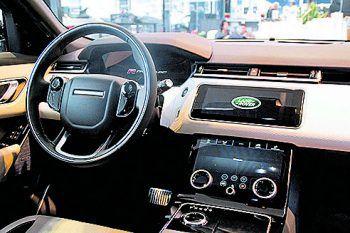 """<p class=""""caption"""">Das progressive Design des neuen Range Rover Velar ist richtungsweisend.</p>"""