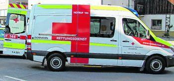 Die verletzte Frau wurde ins KH Dornbirn eingeliefert.Foto: handout/Rotkreuz