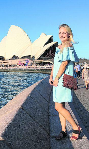 """<p class=""""caption"""">Ein halbes Jahr lebte Audrey in Sydney und zog dann an die Westküste nach Perth. </p>"""