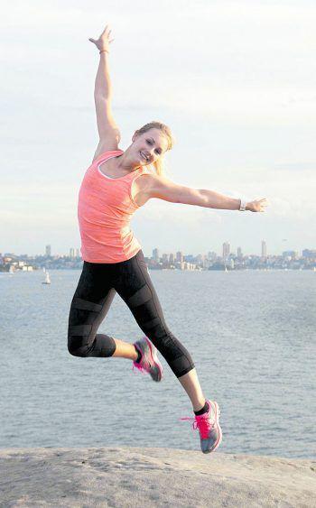 """<p class=""""caption"""">Yoga in der Bucht von Sydney: Audrey hat ihr Hobby zum Beruf gemacht.</p>"""