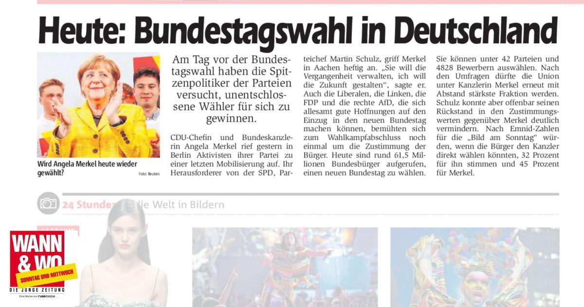 wann ist bundestagswahl in deutschland