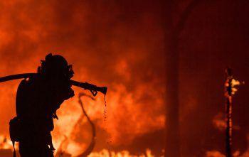 Die Kalifornische Feuerwehr kämpft verzweifelt gegen die Feuersbrunst.Foto: AFP