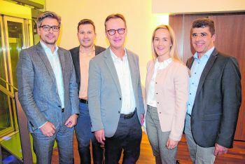 """<p class=""""caption"""">Hanno Lecher, Gerald Illigen, Guntram Mäser, Daniela Ebner und Clemens Ender.</p>"""