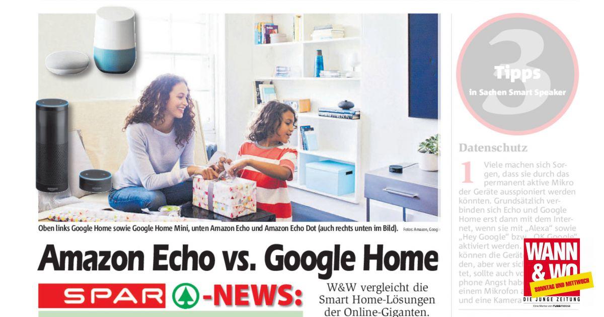 amazon echo vs google home wann wo. Black Bedroom Furniture Sets. Home Design Ideas