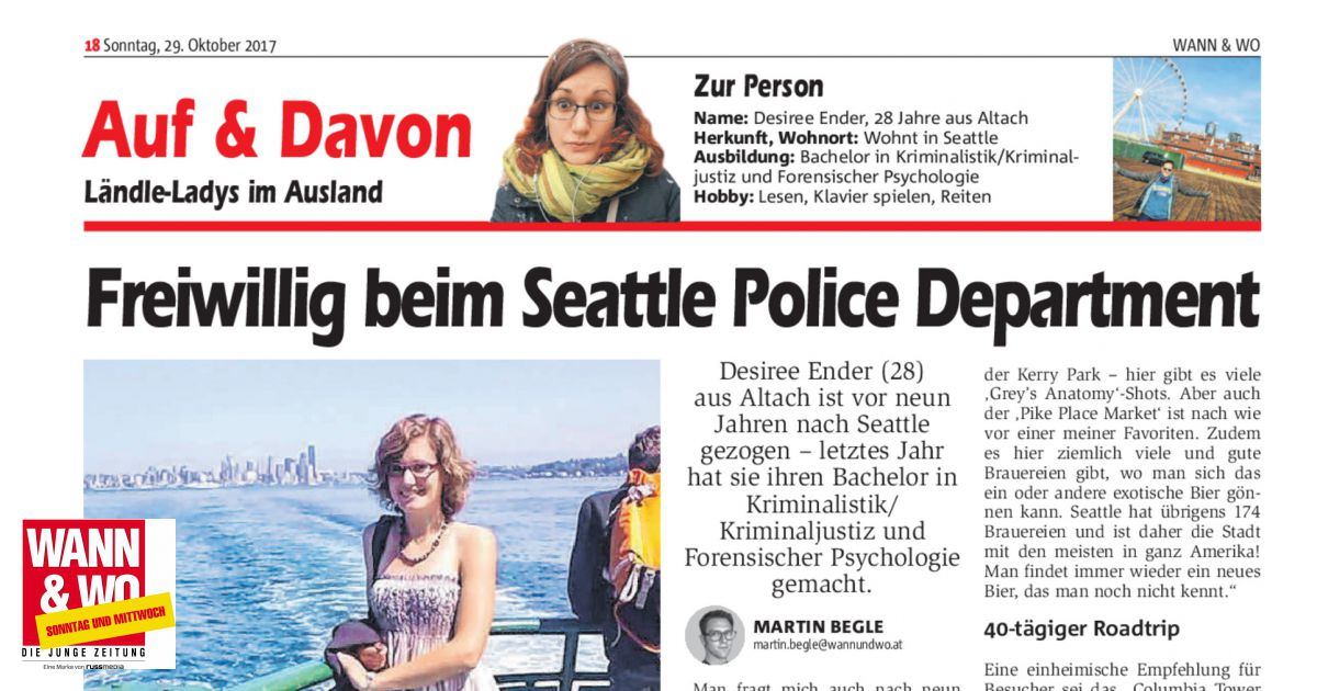 Freiwillig beim Seattle Police Department - Wann & Wo