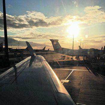<p>Wien Schwechat. Abflug: Nach dem spannenden Aufenthalt in Wien reist die Delegation wieder nach Hause. Fotos: CŠ</p>