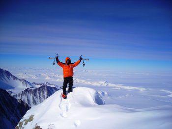 Christian Stangl bei einem seiner zahlreichen Abenteuer in den Bergen.