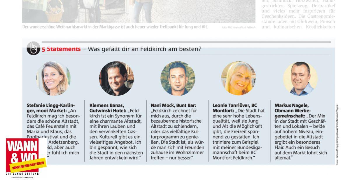 5 statements was gef llt dir an feldkirch am besten - Synonym am besten ...