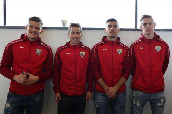 Benjamin Ozegovic, Stefan Nutz, Adrian Grbic und Daniel Nussbaumer.
