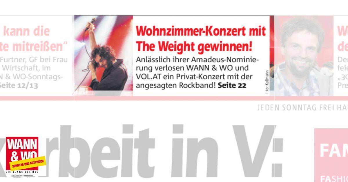 Wohnzimmer-Konzert Mit The Weight Gewinnen!