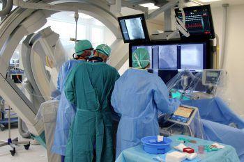 Das kardiologische Team arbeitet in den neuen Räumlichkeiten. Foto: handout/LKH Feldkirch