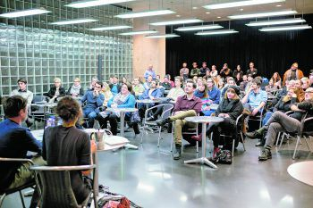 Spannende Vorträge im Rahmen der Poolbar Generator-Workshopreihe.Foto: Matthias Rhomberg
