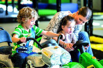 In der Spielfabrik kommen alle Kinder voll auf ihre Kosten.Fotos: handout/Spielfabrik