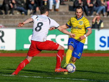 Derby auf der Birkenwiese: Der VfB Hohenems gastiert beim FCD.Foto: Lerch