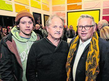 """<p class=""""caption"""">Die Künstler Victor Mangeng, Alois Galehr und Erwin Buttazoni.</p>"""