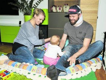 Markus verbringt jede freie Minute mit seiner Partnerin Karo und ihrer gemeinsamen Tochter, der kleinen Mathilda.Fotos: MiK