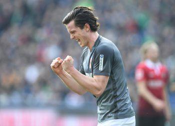 Michael Gregoritsch gelangen gegen Hannover zwei Tore für den FC Augsburg. Foto: GEPA