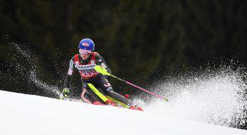 Mikaela Shiffrin sicherte sich vorzeitig Slalom-Kristall. Fotos: APA