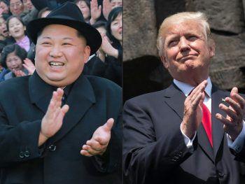 Ob es wirklich zu einem historischen Treffen der beiden Hitzköpfe kommt?Foto: AFP