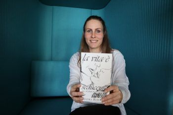 Sandra Ruscello war zu Gast bei WANN & WO, um ihr erstes Buch vorzustellen. Fotos: W&W, handout/Sandra Ruscello