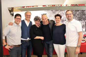 Alexander, Peter und Susanne Scharax, Ralph Anderl, Petra und Markus Kirschner (WANN & WO).