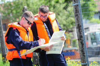 """<p class=""""caption"""">An der Übung nahmen Vertreter aus allen Feuerwehren von Nofels bis Hard teil.</p>"""
