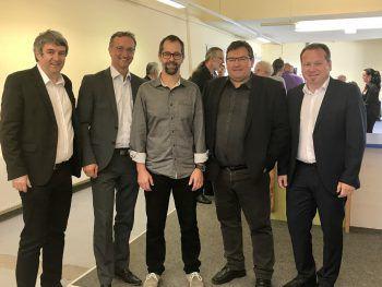 "<p class=""caption"">Bgm. Michael Tinkhauser, Thomas Schöpf, Bgm. Willi Müller und Bgm. Harald Witwer. Fotos: Franz Lutz</p>"