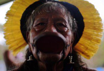 <p>Brasilia. Kultig: Ein Teilnehmer bei einem Treffen zur Mobilisierung der indigenen Bevölkerung.</p>
