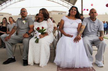 <p>Ciudad Juarez. Glücklich: 63 Paare wurden im Gefängnis vermählt.</p>