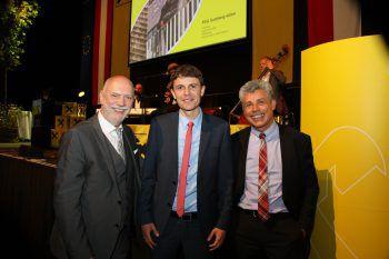 """<p class=""""caption"""">Das Organisationsteam: Stephan Marent, Raphael Kiene-Schmid, Michael Wieser.</p>"""