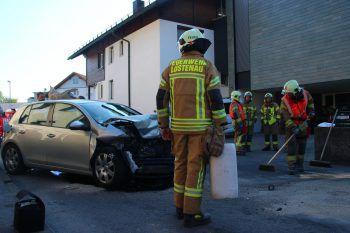 Die Feuerwehr war mit 20 Mann vor Ort in Lustenau.