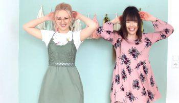 """Die YouTuberinnen """"ViktoriaSarina"""" haben Spaß an der Challenge.Fotos: Screenshot YouTube"""