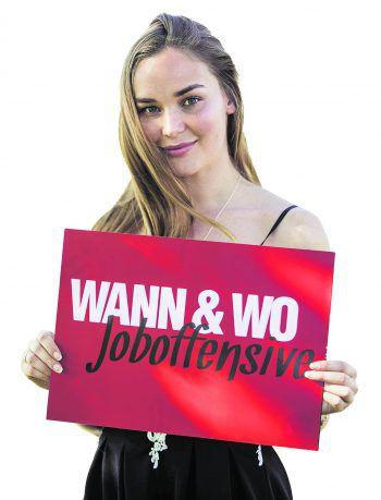 Eine Win-Win-Situation für Emily! Durch die informative WANN & WO Job-Offensive wird es für Arbeitssuchende und für Unternehmen einfacher, zusammen zu kommen. Foto: Sams