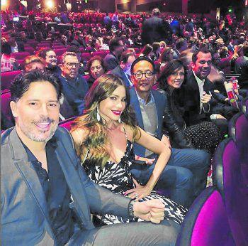 """<p>Glamourös: Sofia Vergara mit Ehemann Joe Manganiello bei der Premiere seines neuen Films """"Rampage"""".</p>"""