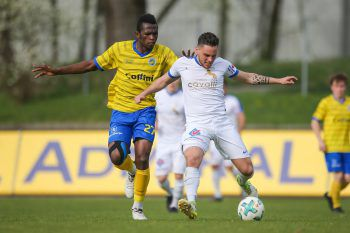 Grödig nutzte im Schlussabschnitt seine Chancen gegen den VfB eiskalt aus.Foto: Sams