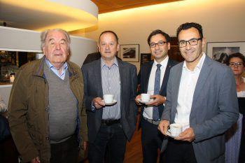 """<p class=""""caption"""">Herbert Zech, Johannes Maier, Alexander und Markus Gschiel genossen das Bludenzer Stadtfrühstück im Hotel Traube in Braz. Fotos: Franz Lutz</p>"""