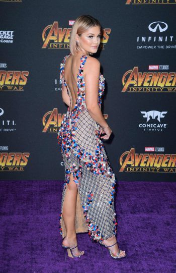 """Hollywood. Sexy: Olivia Holt bei der Premiere von """"Avengers: Infinity War""""."""