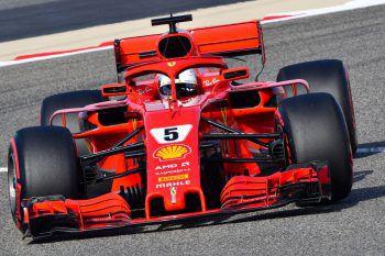 In einem knappen Qualifying setzte sich Sebastian Vettel durch und wird sein 200. Rennen heute von seiner insgesamt 51. Pole Position starten.Foto: APA