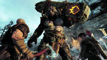 Kriegsgott Kratos und sein Sohn Atreus stellen sich gemeinsam den schwierigen Herausforderungen, wie Trollen, Drachen und anderen Monstern.Foto: Sony