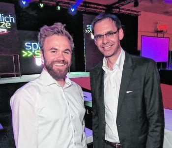 """<p class=""""caption"""">Markus Schairer und LH Markus Wallner.</p>"""