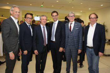 Martin Ohneberg, Hans Peter Metzler, Hubert Bertsch, LH Markus Wallner, Wilfried Hopfner und LR Johannes Rauch. Fotos: Franz Lutz