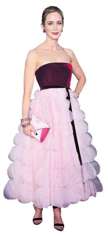 """New York. Pompös: Emily Blunt bei der Premiere von """"A Quiet Place""""."""
