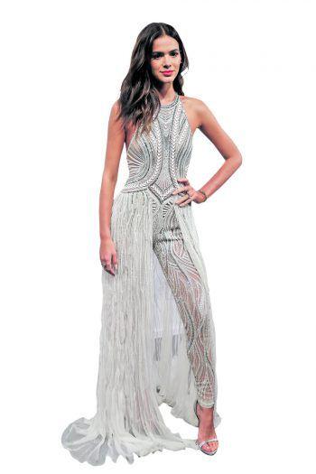 Sao Paulo. Sexy: Schauspielerin Bruna Marquesine im Glitzer-Outfit.