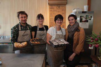 Sebastian Geiger, Stephanie Wetzinger, Aloisia Wetzinger und Cindy Konzett.Fotos: Arno Meusburger