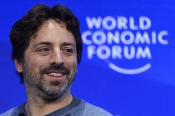 Sergey Brin 2017 auf dem World Economic Forum in Davos.Foto: AP