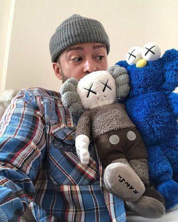 """Witzig: Sänger Justin Timberlake mit seinen """"neuen BFFs""""."""