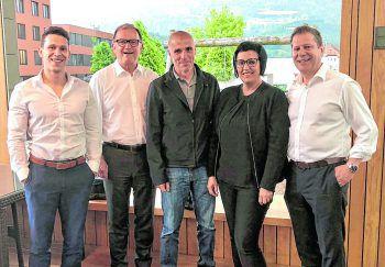 Michael Borg, Karlheinz Kopf, Klaus Schmidt, Edith und Markus Borg.Fotos: Franz Lutz