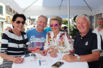 """<p class=""""caption"""">Bettina und Beat Scholl mit Sonja Scholl und Richard Elsler.</p>"""