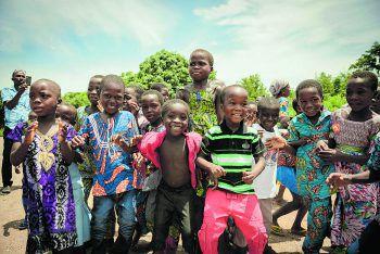 Das Projekt-Team wurde in Lomè von den Bewohnern herzlich begrüßt.Fotos: Christian Kerber