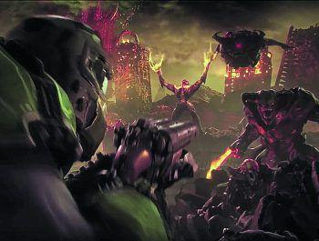 """<p class=""""caption"""">Der Trailer von """"Doom Eternal"""" sieht schon mal richtig geil aus.Screenshot: Bethesda</p>"""
